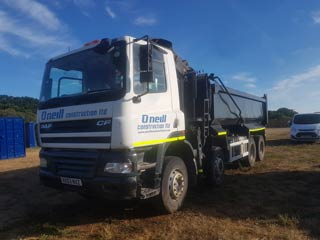 groundworks project southampton - oneill lorry